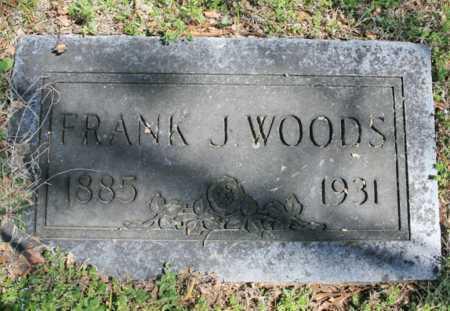 WOODS, FRANK J. - Benton County, Arkansas | FRANK J. WOODS - Arkansas Gravestone Photos