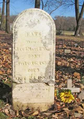 WOODS, KATE - Benton County, Arkansas | KATE WOODS - Arkansas Gravestone Photos