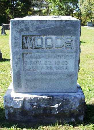 WOODS, MARY V. - Benton County, Arkansas | MARY V. WOODS - Arkansas Gravestone Photos