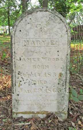 WOODS, MARY EMMA - Benton County, Arkansas   MARY EMMA WOODS - Arkansas Gravestone Photos