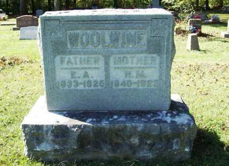 WOOLWINE, E. A. - Benton County, Arkansas | E. A. WOOLWINE - Arkansas Gravestone Photos