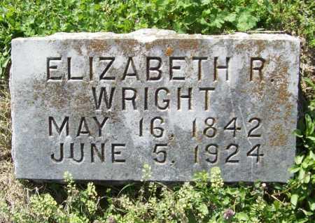 WRIGHT, ELIZABETH R - Benton County, Arkansas | ELIZABETH R WRIGHT - Arkansas Gravestone Photos