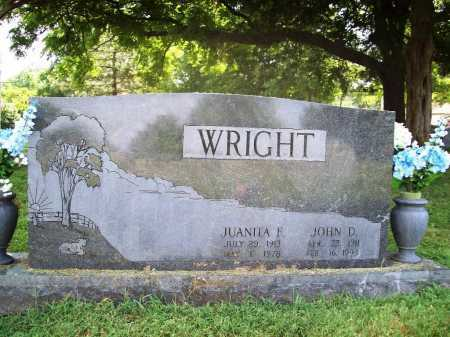 WRIGHT, JOHN D. - Benton County, Arkansas | JOHN D. WRIGHT - Arkansas Gravestone Photos