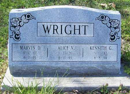 WRIGHT, MARVIN D. - Benton County, Arkansas | MARVIN D. WRIGHT - Arkansas Gravestone Photos