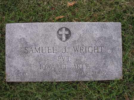 WRIGHT (VETERAN UNION), SAMUEL JAMESON - Benton County, Arkansas | SAMUEL JAMESON WRIGHT (VETERAN UNION) - Arkansas Gravestone Photos