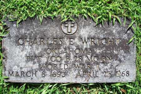 WRIGHT (VETERAN WWI), CHARLES E. - Benton County, Arkansas | CHARLES E. WRIGHT (VETERAN WWI) - Arkansas Gravestone Photos