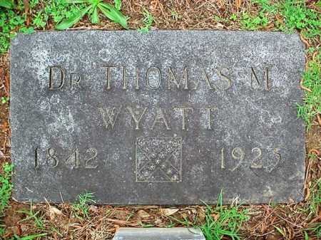 WYATT, THOMAS M., DR. - Benton County, Arkansas   THOMAS M., DR. WYATT - Arkansas Gravestone Photos