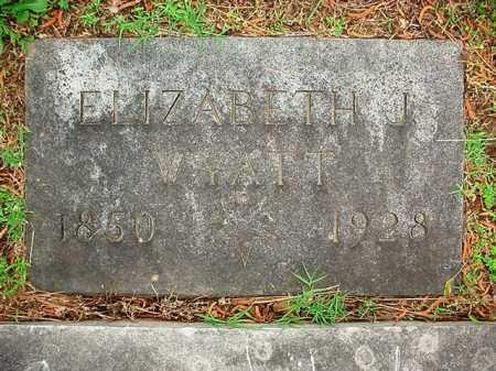 WYATT, ELIZABETH J. - Benton County, Arkansas   ELIZABETH J. WYATT - Arkansas Gravestone Photos