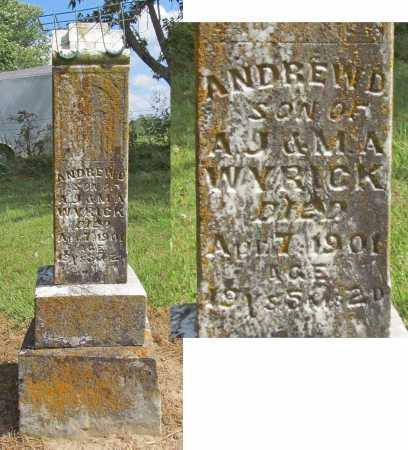 WYRICK, ANDREW D. - Benton County, Arkansas | ANDREW D. WYRICK - Arkansas Gravestone Photos