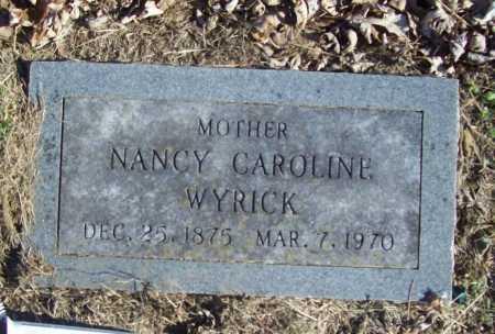 WYRICK, NANCY CAROLINE - Benton County, Arkansas   NANCY CAROLINE WYRICK - Arkansas Gravestone Photos