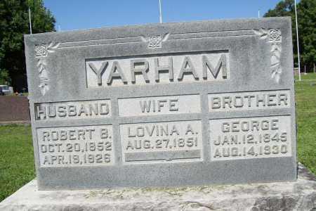 YARHAM, LOVINA A. - Benton County, Arkansas | LOVINA A. YARHAM - Arkansas Gravestone Photos