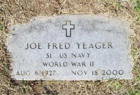YEAGER (VETERAN WWII), JOE FRED - Benton County, Arkansas | JOE FRED YEAGER (VETERAN WWII) - Arkansas Gravestone Photos
