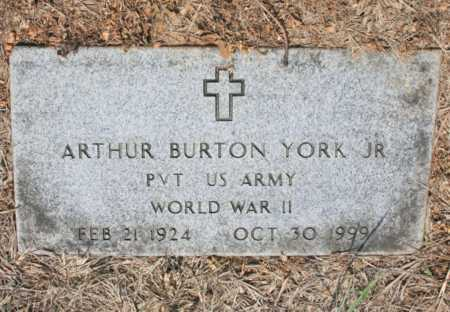 YORK, JR (VETERAN WWII), ARTHUR BURTON - Benton County, Arkansas | ARTHUR BURTON YORK, JR (VETERAN WWII) - Arkansas Gravestone Photos
