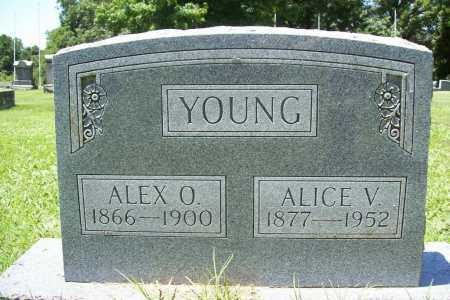 YOUNG, ALICE V. - Benton County, Arkansas | ALICE V. YOUNG - Arkansas Gravestone Photos