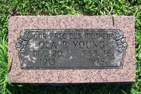 YOUNG, OLA P. - Benton County, Arkansas | OLA P. YOUNG - Arkansas Gravestone Photos