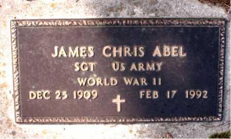 ABEL  (VETERAN WWII), JAMES CHRIS - Boone County, Arkansas   JAMES CHRIS ABEL  (VETERAN WWII) - Arkansas Gravestone Photos