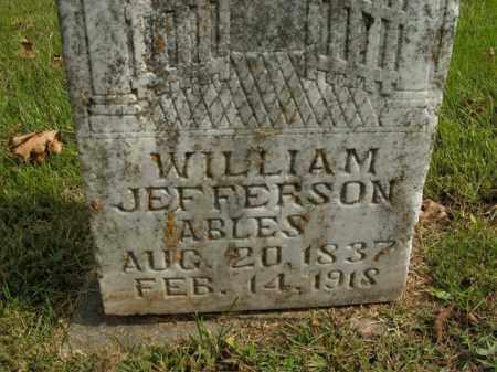 ABLES, WILLIAM JEFFERSON - Boone County, Arkansas | WILLIAM JEFFERSON ABLES - Arkansas Gravestone Photos