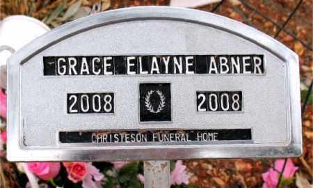 ABNER, GRACE  ELAYNE - Boone County, Arkansas | GRACE  ELAYNE ABNER - Arkansas Gravestone Photos