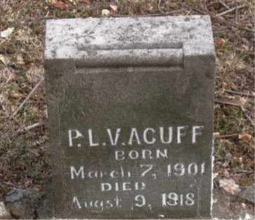 ACUFF, P. L. V. - Boone County, Arkansas   P. L. V. ACUFF - Arkansas Gravestone Photos
