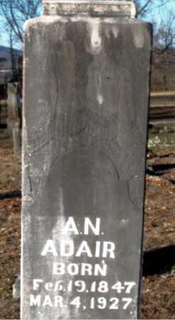 ADAIR  (VETERAN CSA), ALFRED NEWELL - Boone County, Arkansas | ALFRED NEWELL ADAIR  (VETERAN CSA) - Arkansas Gravestone Photos