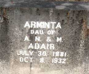 ADAIR, ARMINTA - Boone County, Arkansas | ARMINTA ADAIR - Arkansas Gravestone Photos