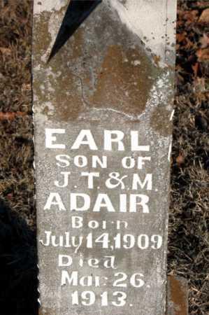 ADAIR, EARL - Boone County, Arkansas   EARL ADAIR - Arkansas Gravestone Photos