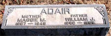 ADAIR, WILLIAM J - Boone County, Arkansas | WILLIAM J ADAIR - Arkansas Gravestone Photos