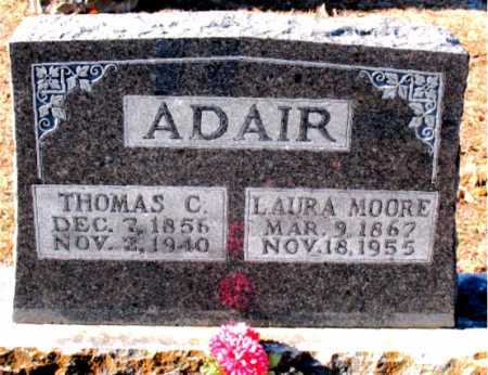 MOORE ADAIR, LAURA - Boone County, Arkansas | LAURA MOORE ADAIR - Arkansas Gravestone Photos