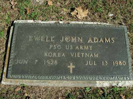 ADAMS  (VETERAN 2 WARS), EWELL JOHN - Boone County, Arkansas | EWELL JOHN ADAMS  (VETERAN 2 WARS) - Arkansas Gravestone Photos