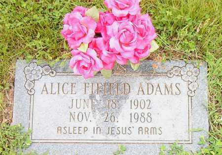 ADAMS, ALICE FIFIELD - Boone County, Arkansas | ALICE FIFIELD ADAMS - Arkansas Gravestone Photos