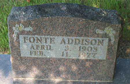 ADDISON, FONTE - Boone County, Arkansas   FONTE ADDISON - Arkansas Gravestone Photos