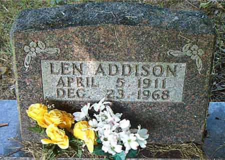 ADDISON, LEN - Boone County, Arkansas | LEN ADDISON - Arkansas Gravestone Photos