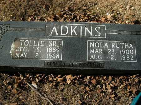 ADKINS, SR, TOLLIE - Boone County, Arkansas | TOLLIE ADKINS, SR - Arkansas Gravestone Photos