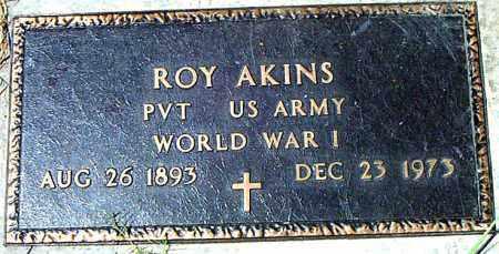 AKINS  (VETERAN WWI), ROY - Boone County, Arkansas | ROY AKINS  (VETERAN WWI) - Arkansas Gravestone Photos