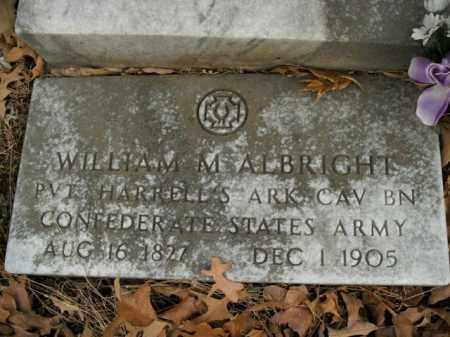 ALBRIGHT  (VETERAN CSA), WILLIAM MOSIER - Boone County, Arkansas   WILLIAM MOSIER ALBRIGHT  (VETERAN CSA) - Arkansas Gravestone Photos