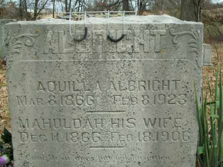 ALBRIGHT, AQUILLA - Boone County, Arkansas | AQUILLA ALBRIGHT - Arkansas Gravestone Photos
