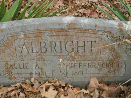 ALBRIGHT, JEFFERSON DAVIS - Boone County, Arkansas | JEFFERSON DAVIS ALBRIGHT - Arkansas Gravestone Photos
