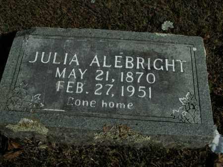 ALEBRIGHT, JULIA - Boone County, Arkansas   JULIA ALEBRIGHT - Arkansas Gravestone Photos