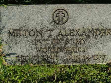 ALEXANDER  (VETERAN WWI), MILTON T - Boone County, Arkansas   MILTON T ALEXANDER  (VETERAN WWI) - Arkansas Gravestone Photos