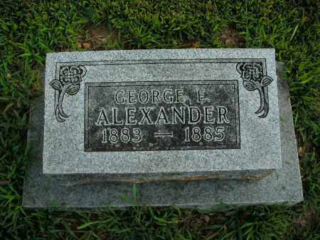 ALEXANDER, GEORGE E. - Boone County, Arkansas | GEORGE E. ALEXANDER - Arkansas Gravestone Photos