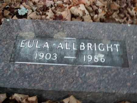 ALLBRIGHT, EULA - Boone County, Arkansas   EULA ALLBRIGHT - Arkansas Gravestone Photos