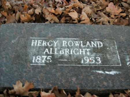 ROWLAND ALLBRIGHT, HERCY - Boone County, Arkansas | HERCY ROWLAND ALLBRIGHT - Arkansas Gravestone Photos