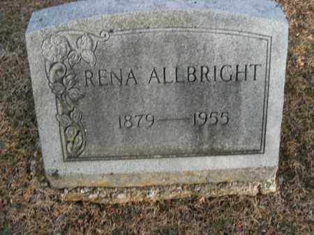 ALLBRIGHT, RENA - Boone County, Arkansas | RENA ALLBRIGHT - Arkansas Gravestone Photos