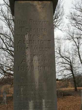 ALLBRIGHT, THOMAS FINLEY - Boone County, Arkansas | THOMAS FINLEY ALLBRIGHT - Arkansas Gravestone Photos