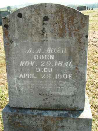 ALLEN  (VETERAN UNION), AARON ANDREW - Boone County, Arkansas   AARON ANDREW ALLEN  (VETERAN UNION) - Arkansas Gravestone Photos