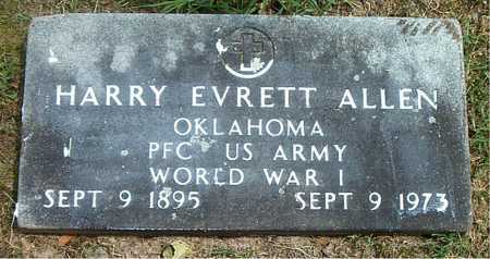 ALLEN  (VETERAN WWI), HARRY EVRETT - Boone County, Arkansas   HARRY EVRETT ALLEN  (VETERAN WWI) - Arkansas Gravestone Photos