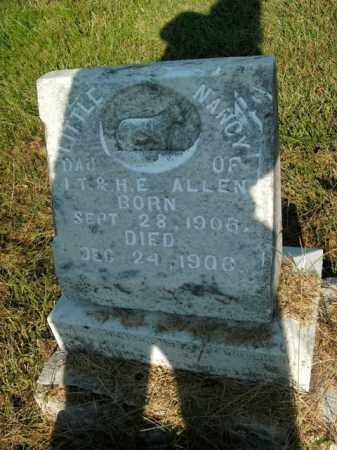 ALLEN, NANCY - Boone County, Arkansas   NANCY ALLEN - Arkansas Gravestone Photos