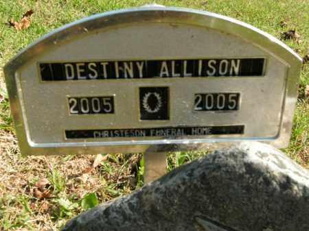 ALLISON, DESTINY - Boone County, Arkansas | DESTINY ALLISON - Arkansas Gravestone Photos