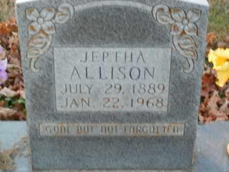 ALLISON, JEPTHA - Boone County, Arkansas   JEPTHA ALLISON - Arkansas Gravestone Photos