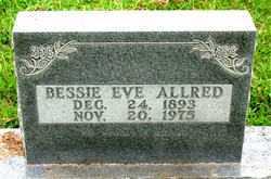 ALLRED, BESSIE EVE - Boone County, Arkansas | BESSIE EVE ALLRED - Arkansas Gravestone Photos